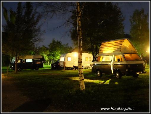 VW T3 und LT 28 am Camping Lago 3 Comuni bei Udine