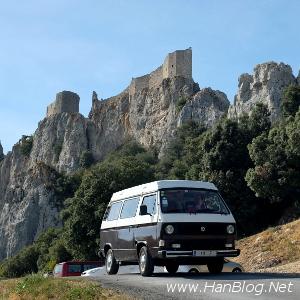Mit dem VW Bulli, einem T3 Bus, zu den Pyrenäen in Frankreich