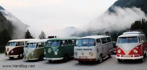 VW Bullitreffen in Kals – mit dem T1, T2 und T3 Bus rund um den Grossglockner